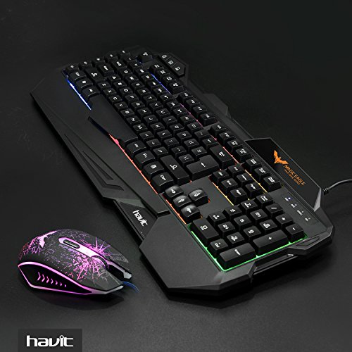 havit rainbow backlit wired gaming keyboard and mouse combo import it all. Black Bedroom Furniture Sets. Home Design Ideas