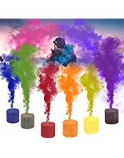 6pcs Smoke Cake Colorful Smoke Effect Show Round Bomb Stage Photography Aid Toy Gifts , Real Smoke Not Powder,Photographic Studio Photo Backgrounds