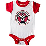 inktastic Building Muscle Infant Creeper 6 Months White and Red 2e188