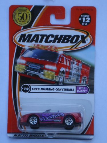 Matchbox 2002-12/75 Style Champs Ford Mustang Convertible 50 Years 1:64 Scale