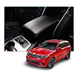 CDEFG Car Center Armrest Cover Console Lid Cover for Grand Cherokee 2014-2019, Armrest Box Saver, Scratch Resistance