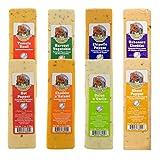 Farmer's Market (Set of 8) Gourmet Wisconsin Cheese Blocks For Gift Basket, Fondue Cheese Brick Pack