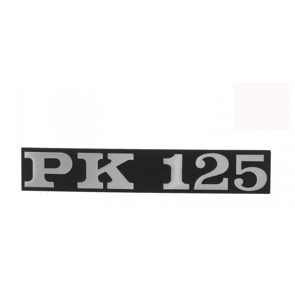 Emblem/Schriftzug ' PK 125 ' fü r Vespa PK 125/Seitenhaube - Lochabstand 80mm RMS