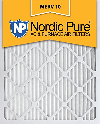 Nordic Pure 16x24x1 MERV 10 Pleated AC Furnace Air Filter, Box of 12
