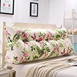 GAOYANG Bedside Triangular Wedge Cushion, Bedroom Sofa Back Wedge pad, Reading and Bed Pillows, Household Software headboard Double Waist pad Washable, 5 Colors, 8 (200cm)