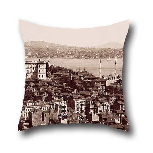 Oil Painting Guillaume Berggren - BoÄŸazkesen , Tophane Pillow Shams 16 X 16 Inches / 40 By 40 Cm Best Choice For Family,coffee House,wife,kids,home Theater,him With Double (Guillaume Leather)