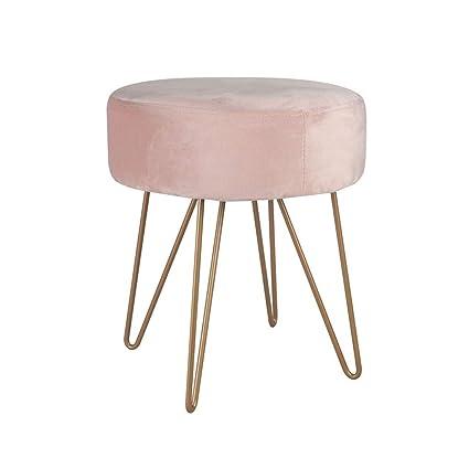 Remarkable Amazon Com Hyfdz Ottoman Cashmere Seat Round Padded Metal Ibusinesslaw Wood Chair Design Ideas Ibusinesslaworg