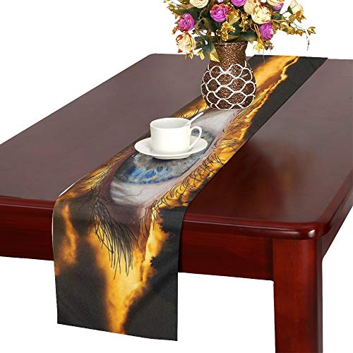 WBSNDB Surreal Eye Fantasy Mysterious Halloween Lighting Table Runner, Kitchen Dining Table Runner 16 X 72 Inch for Dinner Parties, Events, -