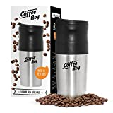 Cheap Coffee Boy All-in-One Portable Coffee Maker, with Rechargeable Electric Ceramic Coffee Grinder, 14oz Coffee Travel Mug, and Pour Over Coffee Espresso Dripper – Great for the Office or Camping