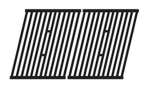 Music City Metals 64362 Matte Cast Iron Cooking Grid Replacement for Select Gas Grill Models by Broil King, Broil-Mate and Others, Set of (Broil King Signet)