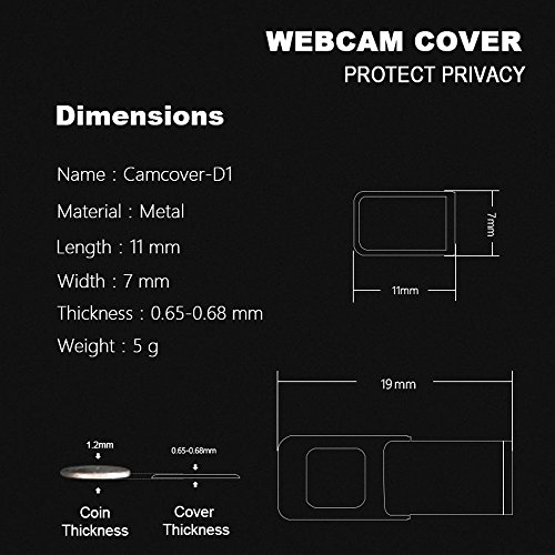Webcam Cover, Pandawill 3 pack Web Camera Cover slide for