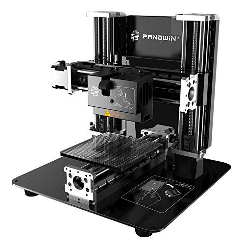 Panowin F1 3Axis SelfAssembled 3D Printer Kit, 1.75 mm, Pla, Black