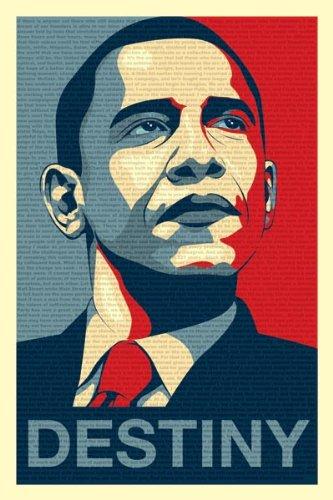 amazon com obama destiny speech poster art print artwork posters
