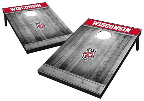 Wild Sports 2'x3' MDF Wood NCAA College Wisconsin Badgers Cornhole -