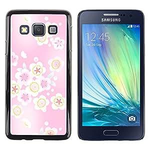MOBMART Carcasa Funda Case Cover Armor Shell PARA Samsung Galaxy A3 - Floating Pink Floral