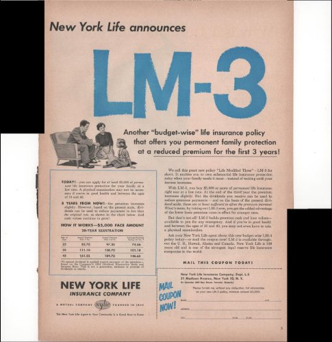 new-york-life-insurance-company-lm-3-budget-plan-home-1954-antique-advertisement