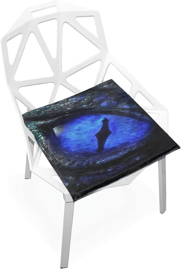 SLHFPX Seat Cushion Blue Mysterious Dragon Eye Chair Cushion Offices Butt Chair Pads Square Car Mat for Student