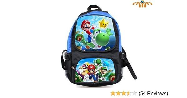 dbb8e50d5dd Amazon.com  Super Mario (Mario Flying Yoshi) and (Mario Luigi Wario) Full  Size School Backpack 17