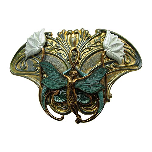 Nouveau Barrette (Fairie Hair Clip Art Nouveau Fairy Hair barrettes Angelina Verbuni Designs Unique Hair Clips)