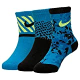 Nike Boys' Performance Cotton Cushioned Crew Socks 3 Pack 5-6