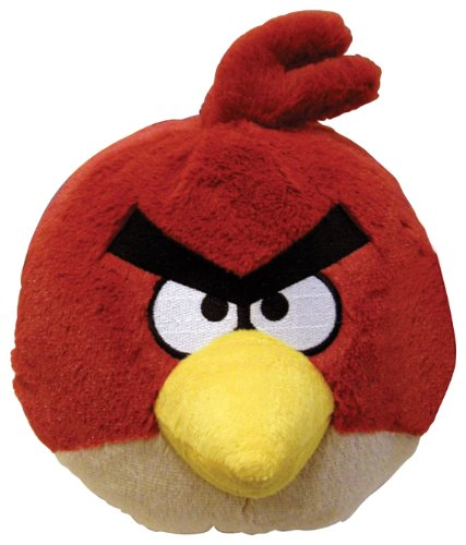 Commonwealth Toy Angry Birds 16'' Plush Red Bird With Sound by Commonwealth Toy
