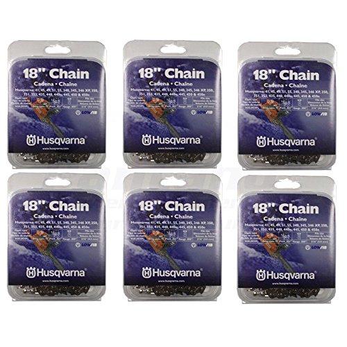 Set of 6 Husqvarna 18'' Chainsaw Chain H30-72 95VP .325'' .050 531300439