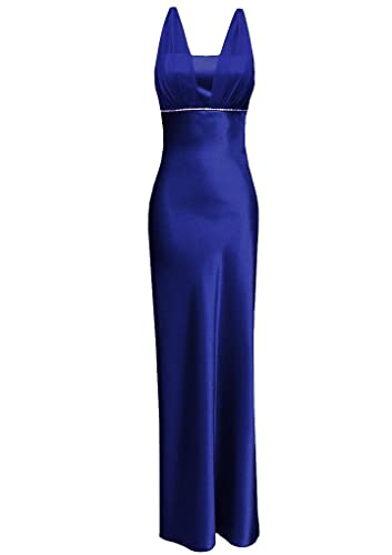Satin Chiffon Holiday Bridesmaid Long Formal Gown Crystals Junior Plus