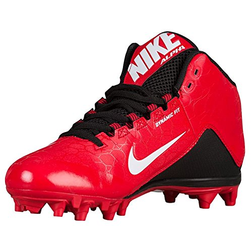 Nike Mens Alpha Strike 2 Three-Quarter Football Cleat, Rojo University/Blanco-Negro, 44 D(M) EU/9 D(M) UK