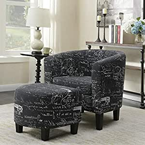 Amazon.com: Hebel Accent Barrel Chair w/Ottoman Round Arms ...