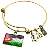 Expandable Wire Bangle Bracelet Jordan 3D Flag - NEONBLOND