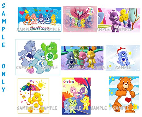 - 9 Care Bears inspired Stickers, Favors, gifts, party supplies, decorations, Labels, Birthday, Crafts, Scrapbooking, Rewards