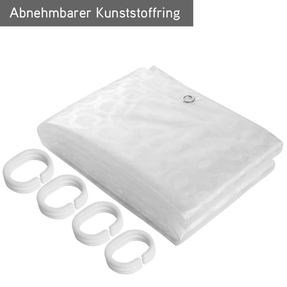 REIDEA Anti-schimmel Duschvorhänge Transparent Shower Curtains ...