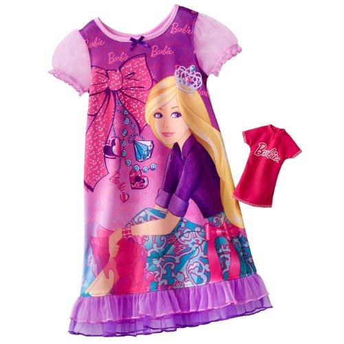 - Mattel Little Girls' Nightgown with Doll Gown (Pink 2T)