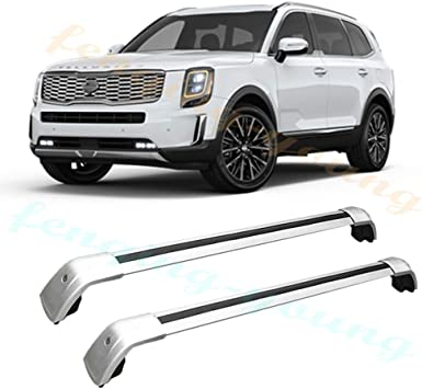 HEKA Cross Bar for KIA Telluride 2019 2020 2021 Crossbar Roof Rail Rack Luggage