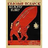 PROPAGANDA WAR REVOLUTION CIVIL RED WHITE BOLSHEVIK USSR VINTAGE 24x18 INCH (61x46 Cms) POSTER 885PYLV