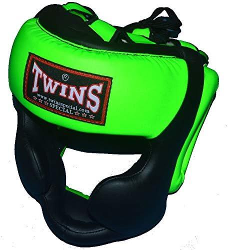 TWINS ツートンカラー ヘッドガード HGL3 黒×ライムグリーン PTTW3194 キッズサイズあり/トップファイター トレーニング映像付  Small