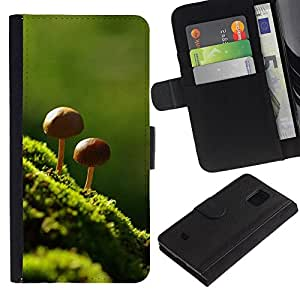 All Phone Most Case / Oferta Especial Cáscara Funda de cuero Monedero Cubierta de proteccion Caso / Wallet Case for Samsung Galaxy S5 Mini, SM-G800 // Nature Beautiful Forrest Green 8
