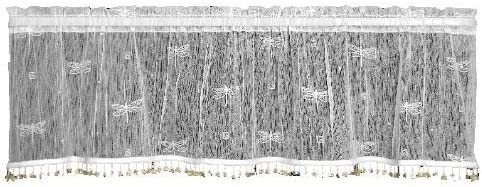 Heritage Lace Dragonfly 45-Inch Wide by 15-Inch Drop Valance, White