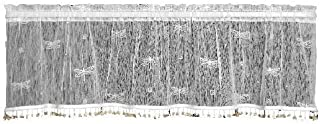 product image for Heritage Lace Dragonfly 45-Inch Wide by 15-Inch Drop Valance, White