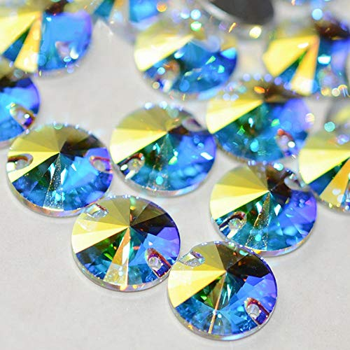 Best Quality - Rhinestones - 3200 All Sizes AB Rivoli Glass Stones Top Quality Flatback Sewing Crystal Strass Craft Sew On Rhinestone for Clothes - by Olwen Shop