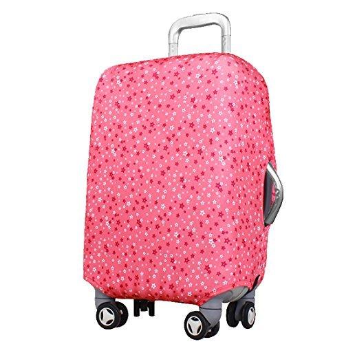 eDealMax Étoile Motif Lavable bagages Valise Trolley Housse de protection Rose pouces 18-22 - Housse De Protection