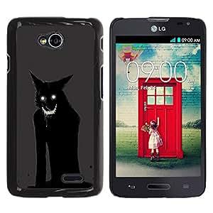 TaiTech/Duro Carcasa Funda–Cat Monster Demon Animal Black–LG Optimus L70/LS620/D325/MS323