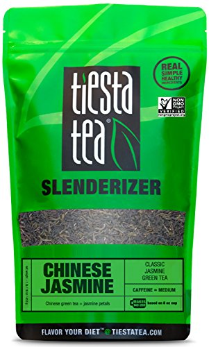 Classic Jasmine Green Tea | CHINESE JASMINE 1 Lb Bag by TIESTA TEA | Medium Caffeine | Loose Leaf Green Tea Slenderizer Blend | Non-GMO