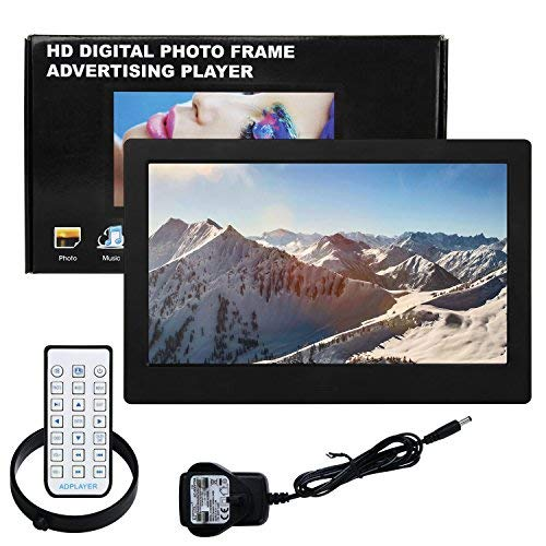 Digital Picture Photo Frame IPS Widescreen Electronic Picture Frame High Definition(1080P) with LCD Display 1024x768,No USB/SD Included,with Wireless Remote Control(Black) by Acecharming (Image #6)
