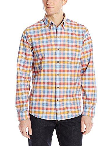 Cutter & Buck Men's Long Sleeve Eclipse Check Shirt, Multi, Large