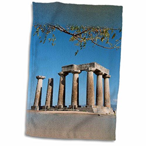 Doric Bath (3dRose Danita Delimont - Temples - Greece, Corinth, Ancient Corinth. Doric Temple of Apollo, c. 540 B.C. - 12x18 Towel)