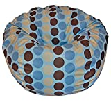 Ahh! Products Madison Dots Cotton Washable Bean Bag Chair, Large