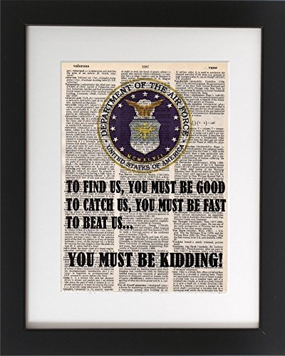 air-force-catch-us-veteran-upcycled-dictionary-art-print-8x10-tribute-to-the-armed-services-unframed