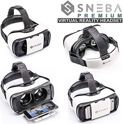 WapSter Vr Headset, Sneba White Virtual Reality, Headset VR Glasses for 3D Video Movies Games for Apple iPhone 11, Samsung Huwei HTC More Smartphones. 51MDX9azabL