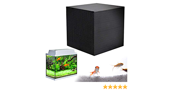 Rapid Water Purification Filter Water Tank Water Purifier Cube Ultra Strong Filtration and Absorption 4X4X2 Inch PSFS Fish Water Pet/'s Filters Honeycomb Activated Carbon Adsorption Odor Air Purifier